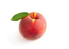 Single fresh ripe peach Stock Photography
