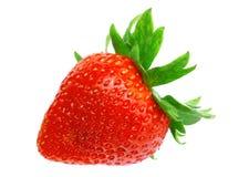 Single fresh strawberries. Isolated Royalty Free Stock Image