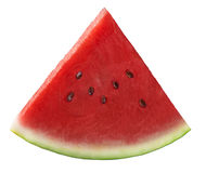 Single fresh watermelon piece isolated on white background Stock Photos