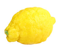 Single fresh yellow lemon Stock Photography