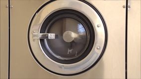 Single front loading washing machine tub stock video