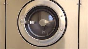 Single front loading washing machine tub stock video