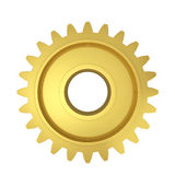 Single gear. 3d illustration isolated on white background Royalty Free Stock Photo