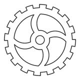 single gear icon Stock Photo