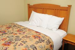 Single generic bed Stock Images