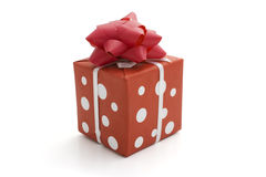 Single gift box Royalty Free Stock Photography