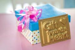 Single gift box Stock Photos