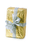 Single  gift box with  ribbon Royalty Free Stock Images