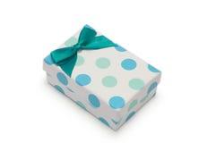 Single gift box on white background. Royalty Free Stock Images
