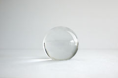 Single glass ball. On white background stock photos