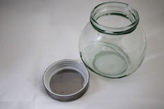 Single glass jar Stock Image
