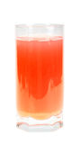 Single glass with orange fruit-juice Stock Images