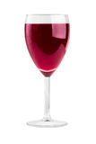 Single glass of red wine. Isolated on white Royalty Free Stock Photo