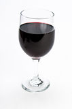 Single glass of red wine on isolating background Royalty Free Stock Images