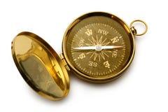 Single golden compass Stock Photo