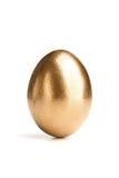 Single Golden Egg Stock Photo