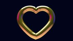 Single golden heart stock footage
