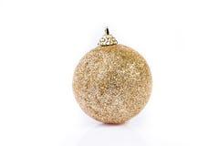 Single golden ornament Stock Image