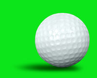 Single golf ball Stock Image