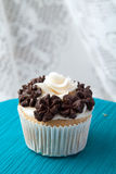 Single Gourmet Cupcake Stock Photography