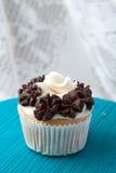 Single Gourmet Cupcake Stock Photography