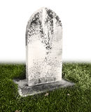 Single grave stone Stock Photo