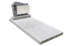 Single grave stone cut out Stock Photography