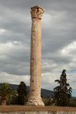 Single greek column Stock Photos
