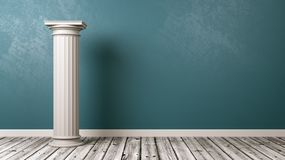 Greek Column in the Room Royalty Free Stock Images