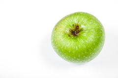 Single green apple on white Royalty Free Stock Photos
