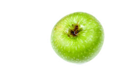 Single green apple on white Stock Images