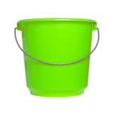 Single green bucket isolated Stock Image