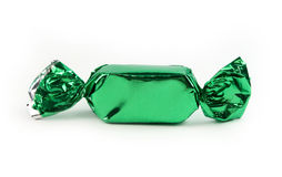 Single green candy isolated Royalty Free Stock Image