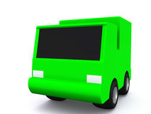Single green car. 3D Stock Photos