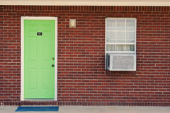 Single green door Royalty Free Stock Images