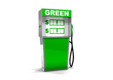 Single Green Gas Pump. One Single Green Gas Pump Royalty Free Stock Images