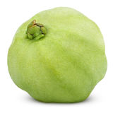 Single green guava isolated on white Royalty Free Stock Photos