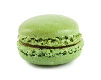 Single green macaroon Royalty Free Stock Images