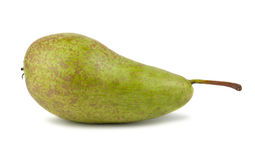 Single green ripe pear Stock Photos