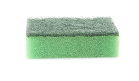 Single green sponge Royalty Free Stock Photography