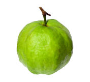 Single guava on white background. Stock Photo