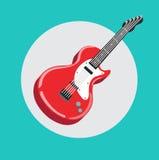 Single guitar flat design vector Royalty Free Stock Images