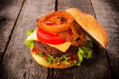 Single hamburger Royalty Free Stock Image