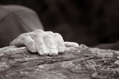 Single hand - Rock climbing series Royalty Free Stock Photos
