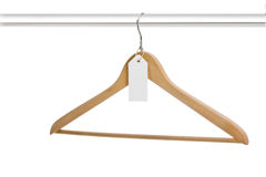 Single hanger on rack Royalty Free Stock Photography