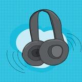 Single Headphones Pair Stock Image
