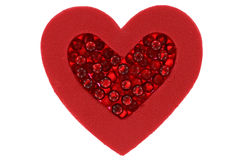Single heart with beads Royalty Free Stock Photo