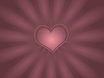 Single Heart Greeting Card Royalty Free Stock Images