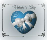 Single heart illustration with frame Stock Photos
