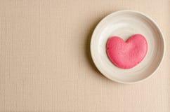 Single heart shape on the dish Royalty Free Stock Photography